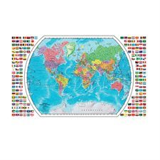 Carte Du Monde Plastifiee.Carte Du Monde Plastifiee